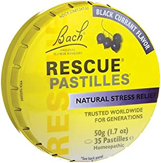 Bach Flower Essences Rescue Remedy Pastilles, Black Currant,1.7 Ounce, 4 Count