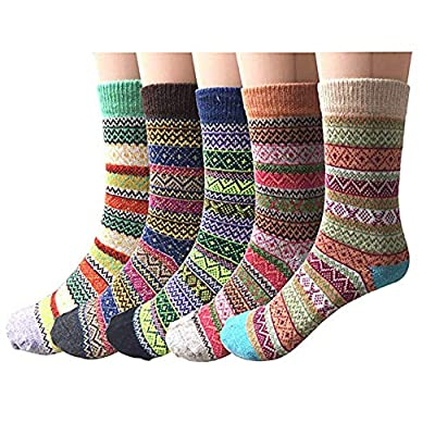 Pack of 5 Womens Vintage Style Thick Wool Warm ...
