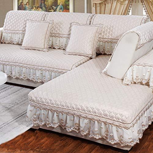 Establece sofá de felpa, antideslizante acolchada sofá cubierta a prueba de polvo y resistente al desgaste Cubierta de protección for mascotas cubierta protectora Muebles de protección del hogar