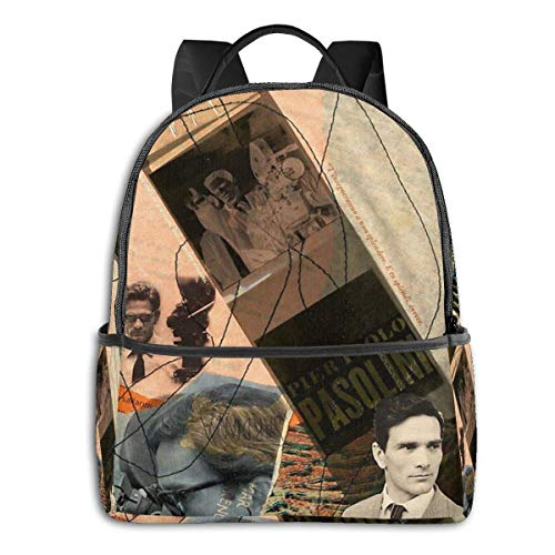 Hdadwy Pier Paolo Pasolini Sac à Dos Unisex School Daily Backpack Lightweight Casual Travel Outdoor Camping Daypack