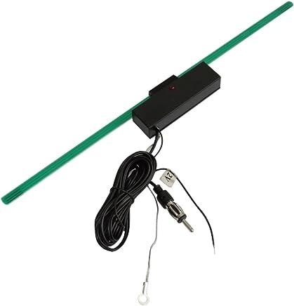 AERZETIX: Antena amplificador interior autoadhesivo 34cm 2 metros para radio de coche, vehiculos C16620