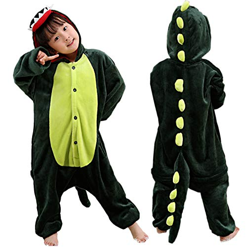 Pijama unisex con diseño de dinosaurio de cocodrilo para niños Verde Cocodrilo/dinosaurio. 4 años