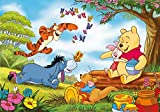 3D Wooden Puzzle Set 1000 Pieces - Winnie The Pooh Poster Album Xi - Diy Model Kits For Adults Teens And Children - Ideal Christmas And New Year Gift 38*26CM