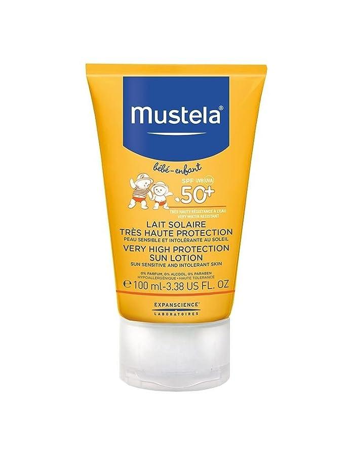 冷淡な船尾はげMustela Sun Face Milk Spf50 + 40ml [並行輸入品]