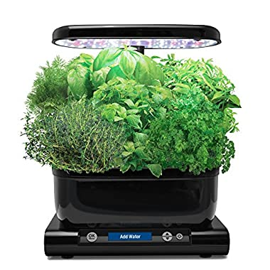 AeroGarden Harvest with Gourmet Herb Seed Pod Kit, Black
