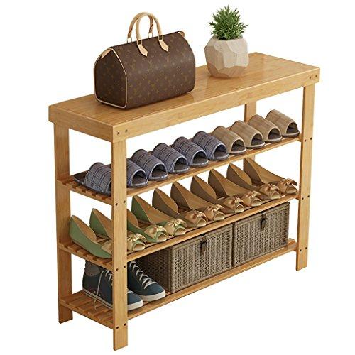 CHGDFQ Estante para zapatos de 3 niveles de madera maciza, zapatero Nanzhu de almacenamiento económico para el hogar, dormitorio o dormitorio (tamaño: 40 cm)