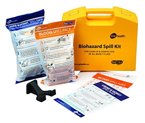 GV salud/Biohazard corporal líquido Multi derrame Kit contiene paquete de sangre y orina vomitar