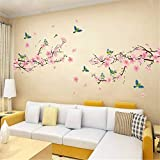 Sticker mural Home Decor 1 Pc Sakura Stickers muraux Chambres d'enfants Chambre Salon...