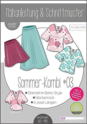 Schnittmuster kibadoo Mix und Match Sommer - Kombi #03 - Preis gilt für 1 Schnittmuster