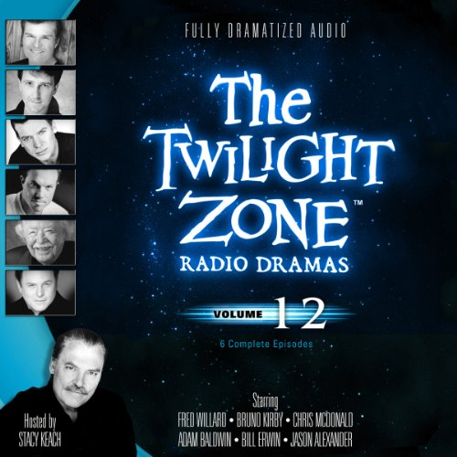 The Twilight Zone Radio Dramas, Volume 12                   By:                                                                                                                                 Rod Serling,                                                                                        Charles Beaumont,                                                                                        Richard de Roy,                   and others                          Narrated by:                                                                                                                                 full cast                      Length: 3 hrs and 38 mins     3 ratings     Overall 5.0
