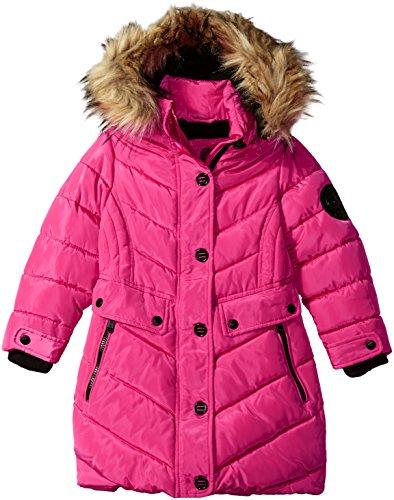 Weatherproof Girls' Little Outerwear Jacket (More Styles Available), Long Bubble-WG160-Fuchsia, 6X