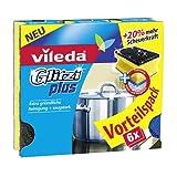 Vileda Glitzi Plus Topfreiniger, mit Antibac-Effekt gegen Bakterien, saugstark, 4er pack (4 x 6 Stück)