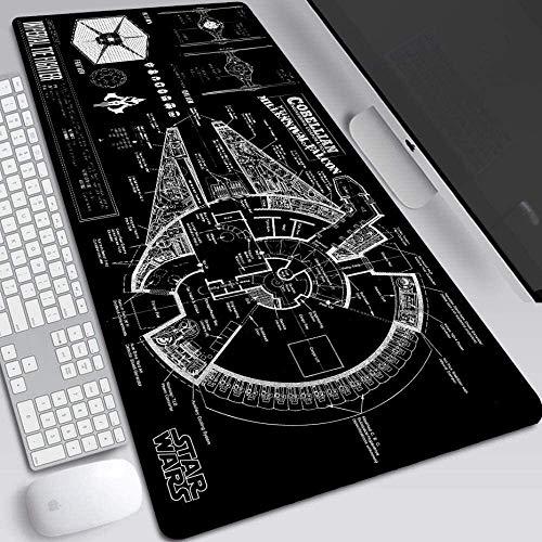 Alfombrilla Raton Xxl Alfombrilla Gaming Star Wars juego del ratón Mat XXL escritorio tamaño 900x400x3mm Tastaturmatte Gran...