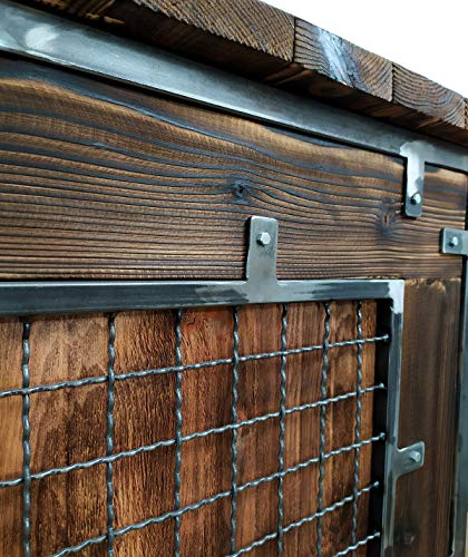 CHYRKA® Bartisch Stehtisch Barhocker Barstuhl BarMöbel SAMBOR Loft Vintage Bar Industrie Design Handmade Holz Metall (THEKE -120 cm) - 4