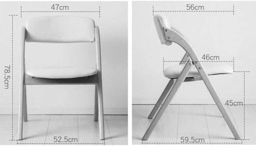YCSD Hêtre Chaise Pliante Dossier Chaise Salle À Manger Chaise Chaise De Bureau Tabouret D'ordinateur Portable Et Durable Amovible en Tissu Couverture (Color : 010) 04