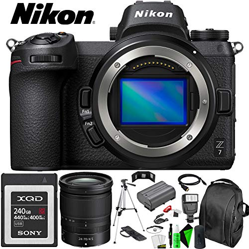 Best Price Nikon Z7 Mirrorless Digital Camera (Body Only) + 24-70mm Lens + 240GB Memory Card