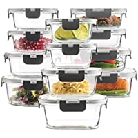 The FineDine Store 24-Piece Superior Glass Food Storage Containers Set