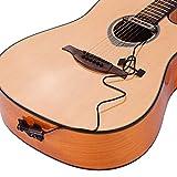 Bedler VS-9 Passive Guitar Soundhole Pickup Humbucker Pick-up Transductor con 6,35 mm Endpin Jack Control de Volumen para Guitarra Acústica Folk