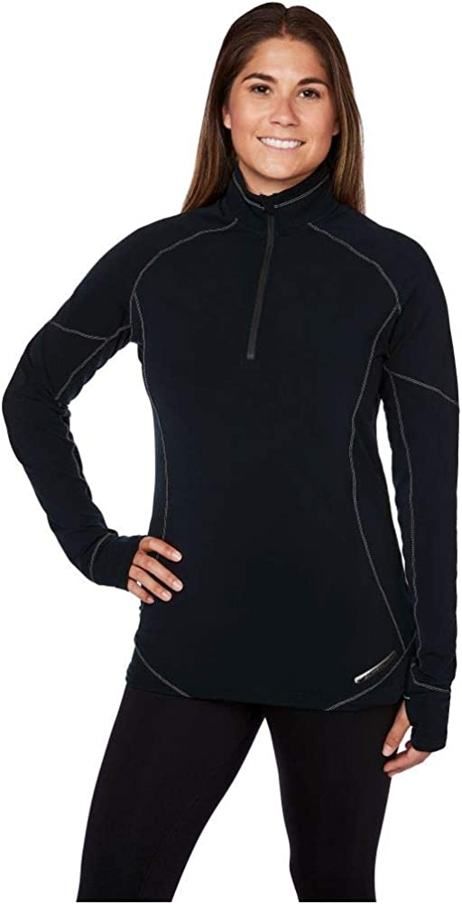 Hot Chillys Women's Micro-Elite XT Zip-T Mountain-Weight Body Fit Base Layer
