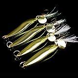 OriGlam - Señuelos de pesca para pesca (4 unidades), diseño de cebos de pesca