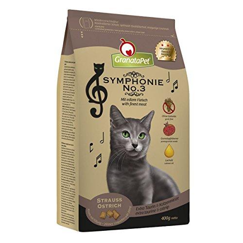 Symphonie droog voedsel kat struisvogels, pak van 6 (6 x 400 g)