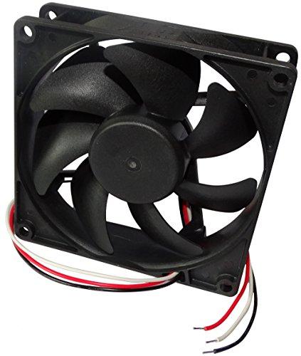 Aerzetix: Behuizing ventilator voor computer PC 12V 92x92x25mm 87,55m3/h 34dBA 3000rpm 28AWG