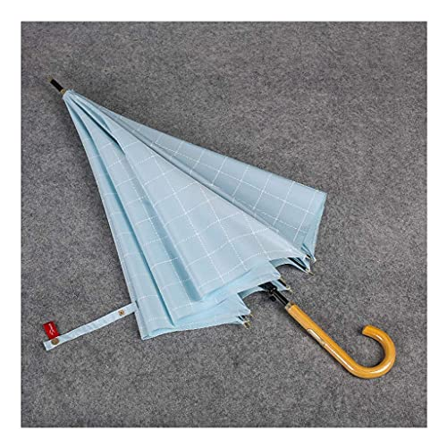 QFUNDAS Anti-UV Paraguas de Mango Recto Creativo Retro a Prueba de Salpicaduras hogar a Prueba de Viento Paraguas de Mango Largo Femenino lluvioso Plegable/A