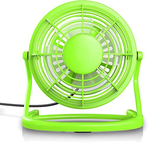 BPDD Mini Ventilador del hogar del Estudiante de la Oficina del Ventilador pequeño del USB del plástico, Puede Utilizar el Dispositivo USB para suministrar energía 7 Pulgadas-Verde