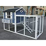 Seny Garden Window Large Chicken Coop Chook Pen Cage House Predator Proof L85 x W58 x H52 inches