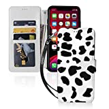 Cow Print for iPhone 11 Wallet Case with Card Holder, Kickstand Function, TPU Durable Shockproof, PU Leather Magnetic Closure Protective Flip Cover Case for 2019 iPhone 11(6.1 inches)