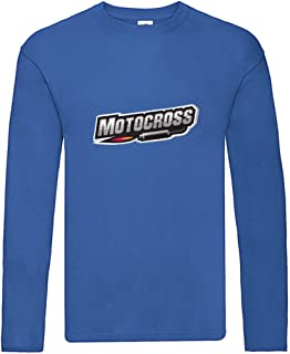 Camiseta de manga larga para motocross, fuego, escape, tuning, manga larga, unisex, para niños y niñas
