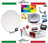 kit satellite completo:parabola 80 cm+staffa+lnb+finder+cavo+spinotti