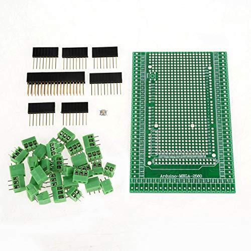 Kit de módulo de terminales, módulo de bloques de terminales, 1 juego MEGA-2560 R31 Kit de placa protectora de bloque de terminales de tornillo prototipo