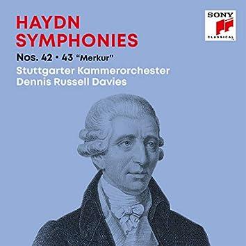 """Haydn: Symphonies / Sinfonien Nos. 42, 43 """"Merkur"""""""