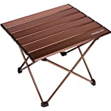 TREKOLOGY Camping/Beach Table with Aluminum Table Top Portable Folding...
