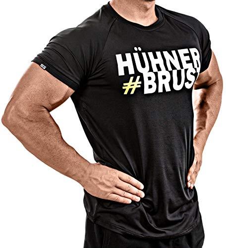 Satire Gym - Camiseta de fitness para hombre - Ropa deportiva funcional - Adecuado para entrenamientos y entrenamiento - Slim Fit, color negro, tamaño small