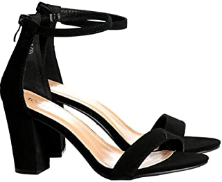 TOP Moda Women's Fashion Ankle Strap Evening Dress High Heel Sandal Shoes
