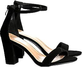 TOP Moda Women's Fashion Ankle Strap Evening Dress High Heel Sandal Shoes