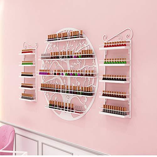 Présentoir rond de vernis à ongles à 5 couches, présentoir mural de vernis à ongles en métal, boîte de rangement et de finition de magasin de manucure, présentoir cosmétique pour la maison et le mag