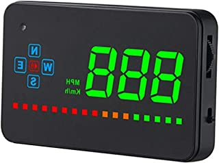 Digital GPS Speedometer Car Hud Head Up Display with Speeding Alert Fatigue Alarm, Universal for Vehicle Truck Motorcycle SUV, Easy Install