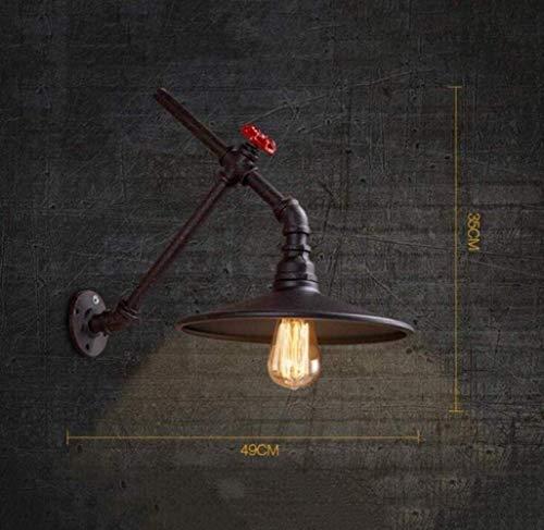 Mkjbd wandlantaarn, wandlamp, wandlamp, vintage, wandlampen, industriële stijl, wandlampen, creatief, voor waterslangen, roest, behuizing, chic, zwart, M