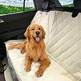 Coprisedile Universale Auto per Cani - Telo Copri Sedile Posteriore Impermeabile, Antigraffio, Antiscivolo e Robusto Dotato di Cinghie per Macchina, Camion e SUV