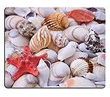 Yanteng Alfombrilla de ratón Caucho Natural Alfombrilla de ratón 12835789 Fondo de Conchas de mar y Conchas de mar