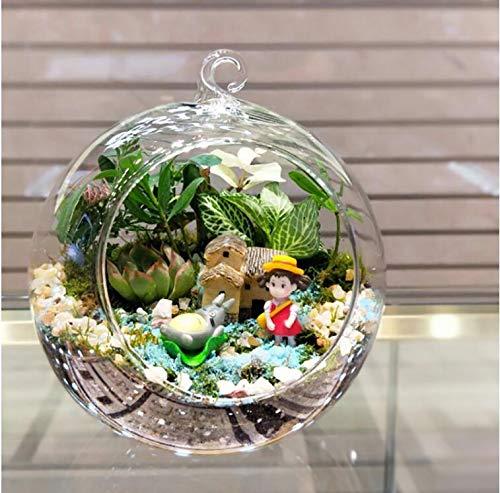 Naisicatar Plantas Accesorio en Forma de Globo de la Bola de la decoración Transparente Claro florero de Cristal Colgante Flor s terrario Jarrón Recipiente Boda decoración del hogar