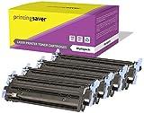 Printing Saver Q6000A Q6001A Q6002A Q6003A 124A Negro (1) Cian (1) Magenta (1) Amarillo (1) Cartuchos de Tóner para HP Laserjet 1600, 1600n, 2600, 2600n, 2600dn, 2605, 2605dn, 2605dtn, CM1015, CM1017