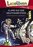 Leselöwen 1. Klasse - Alarm auf der Weltraumstation: Erstlesebuch Kinder ab 6 Jahre - Mit Großbuchstaben für Leseanfänger