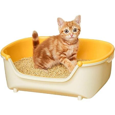 【返金キャンペーン中】花王 猫用トイレ本体 ニャンとも清潔トイレ 子ねこ用セット オレンジ 子ねこ用