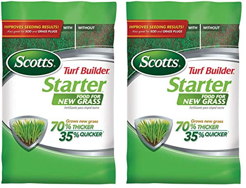 Scotts Turf Builder Starter Food for New Grass, 3 lb. - Lawn Fertilizer for Newly Planted Grass, Also Great for Sod and Grass Plugs - Covers 1,000 sq. ft. (Тwo Рack)