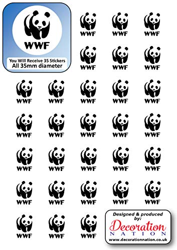 WWF Aufkleber, 35 x 35 mm