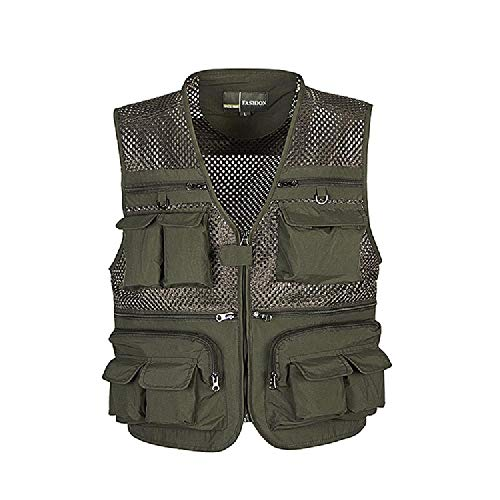 Summer Men's Vest, Multi-Pocket, Large Mesh Vest